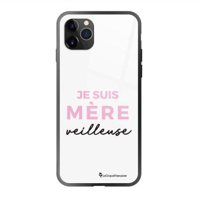 Coque en verre trempé iPhone 11 Pro Max Mère Veilleuse Ecriture Tendance et Design La Coque Francaise