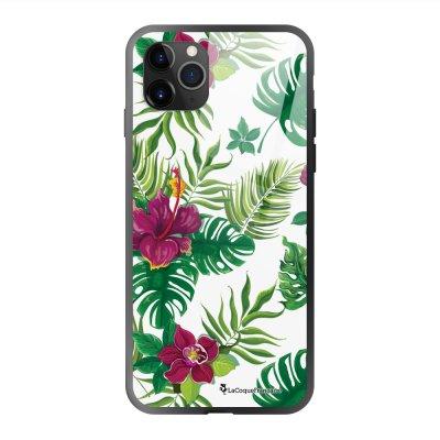 Coque en verre trempé iPhone 11 Pro Max Tropical Ecriture Tendance et Design La Coque Francaise