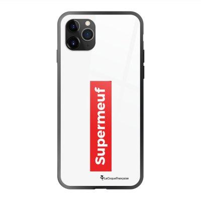 Coque en verre trempé iPhone 11 Pro Max SuperMeuf Ecriture Tendance et Design La Coque Francaise