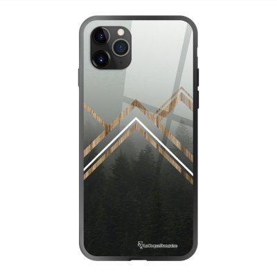 Coque en verre trempé iPhone 11 Pro Max Trio Forêt Ecriture Tendance et Design La Coque Francaise