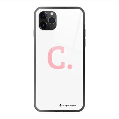 Coque en verre trempé iPhone 11 Pro Max Initiale C Ecriture Tendance et Design La Coque Francaise