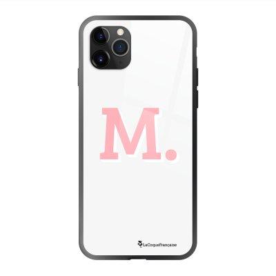 Coque en verre trempé iPhone 11 Pro Max Initiale M Ecriture Tendance et Design La Coque Francaise