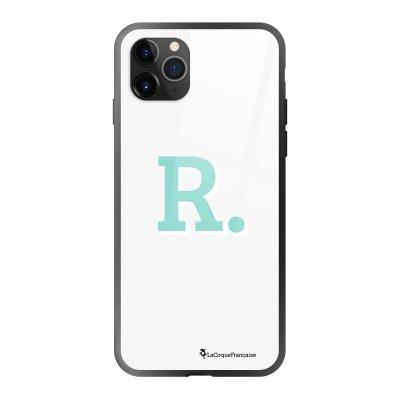 Coque en verre trempé iPhone 11 Pro Max Initiale R Ecriture Tendance et Design La Coque Francaise