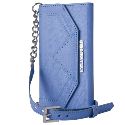 Karl Lagerfeld Clutch Classic Bleu Pour Apple Iphone 5/5s/se**