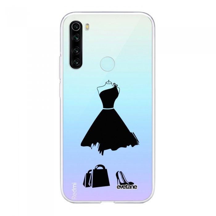 Coque Xiaomi Redmi Note 8 T souple transparente My little black dress Motif Ecriture Tendance Evetane.