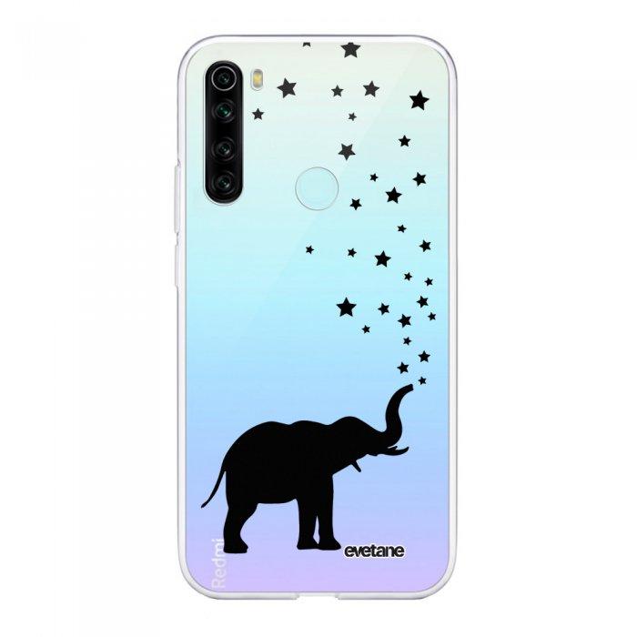 Coque Xiaomi Redmi Note 8 T souple transparente Elephant Motif Ecriture Tendance Evetane
