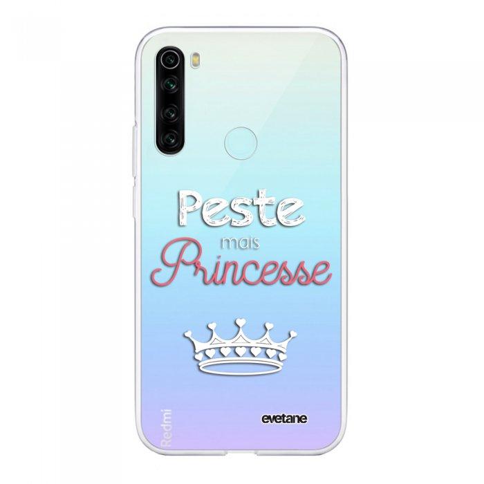 Coque Xiaomi Redmi Note 8 T souple transparente Peste mais Princesse BLANC Motif Ecriture Tendance Evetane