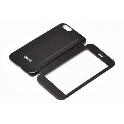 Etui folio Gear4 fenetre tactile noir et film en verre trempé pour iPhone 6 Plus