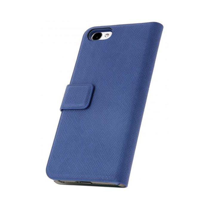 etui portefeuille serie what else stripe bleu marine pour iphone 5 5s