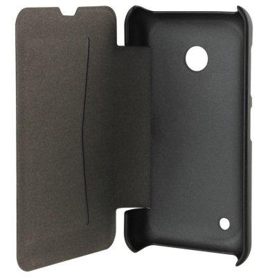 Etui Folio Xqisit Rana noir metal pour Nokia Lumia 435