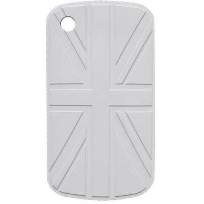 Coque blanche en silicone avec drapeau du Royaume-Uni en relief pour BlackBerry Curve 8520/9300
