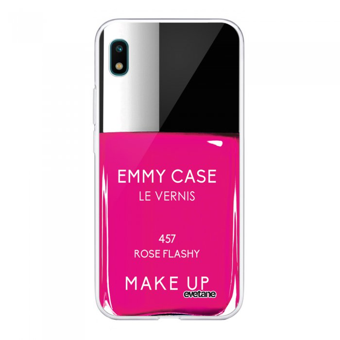 Coque Samsung Galaxy A10 360 intégrale transparente Vernis Rose Tendance Evetane - Coquediscount