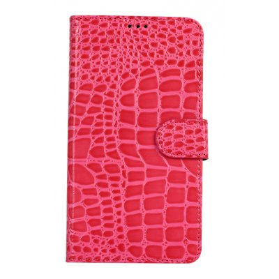 Etui livre croco glossy rose pour Apple iPhone 5/5S
