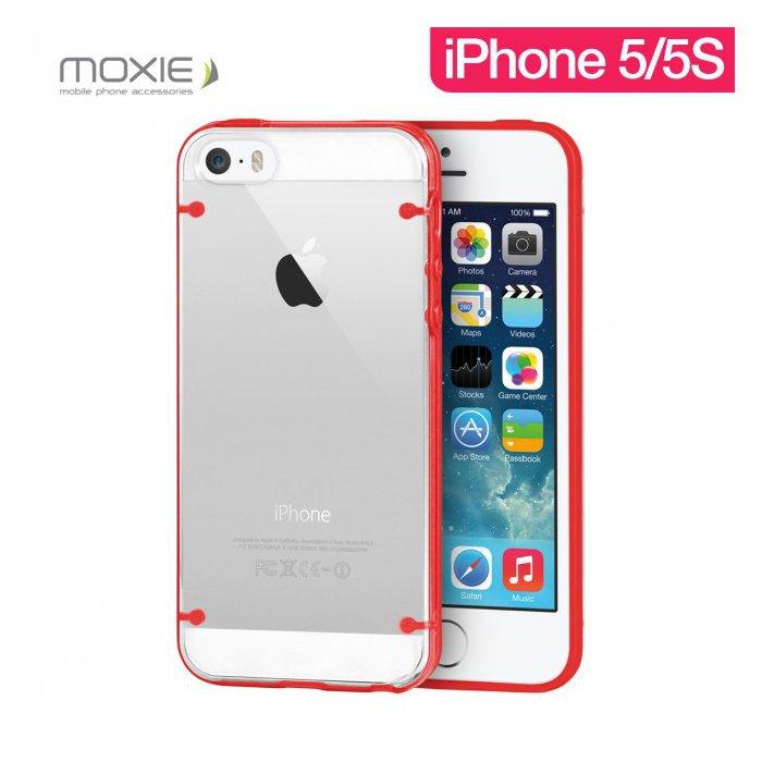 Coque Plexiglass Moxie contour et griffes couleur Rouge pour Apple iPhone 5/5S