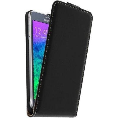 Etui à rabat noir pour Samsung Galaxy Alpha