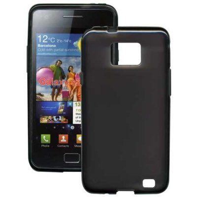Coque TPU noire souple Swiss Charger pour Samsung Galaxy SII I9100