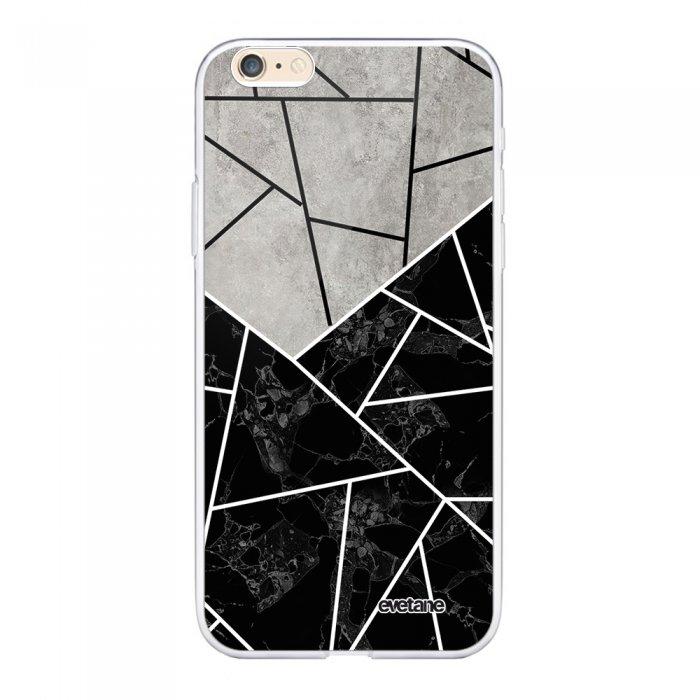 coque iphone 6 plus 6s plus 360 integrale transparente duo noir gris marbre ecriture tendance design evetane