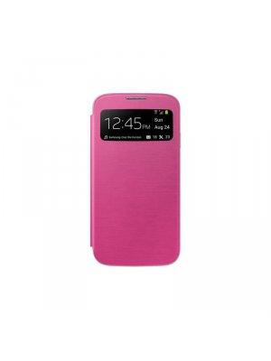 Etui livre avec fenêtre rose fushia pour Samsung Galaxy S5 Mini