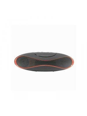 Mini enceinte bluetooth design noire et rouge