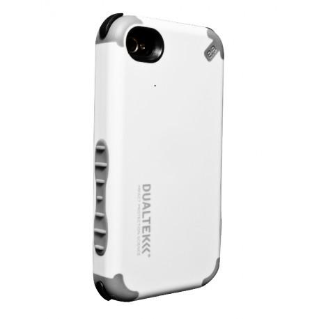 coque dualtek tout terrain blanche pour apple iphone 4 4s