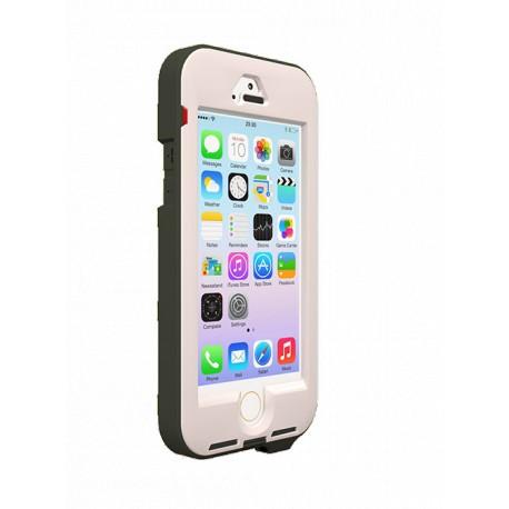 coque renforcee link pro blanche et grise pour apple iphone 5 5s