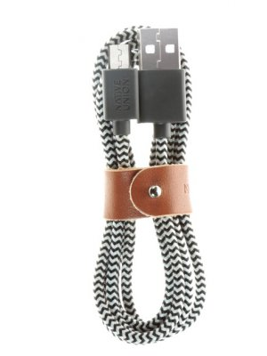 Cable de recharge Micro Usb en nylon tressé Zebra de 3 mètres