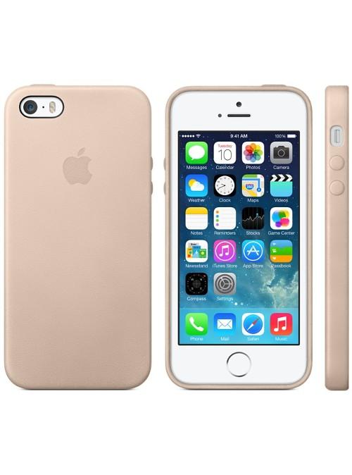 coque cuir beige apple pour apple iphone 5s
