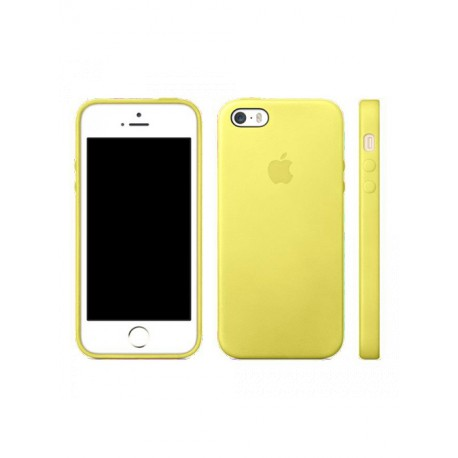 coque cuir jaune apple pour apple iphone 5s