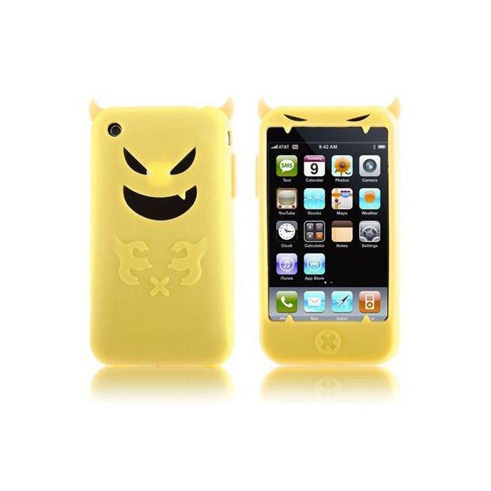 coque silicone jaune diable pour iphone 3g 3gs