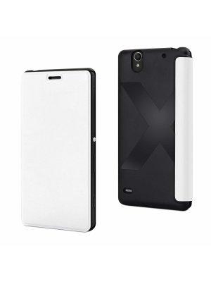 Mfx Etui Easy Folio Blanc Pour Sony Xperia C4**