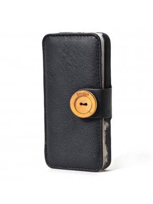 Snuggs Etui Folio Noir Avec Fourrure Interieure Apple Iphone 5/5s**