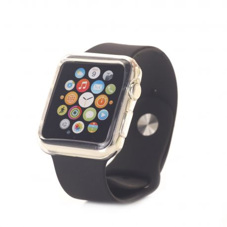 Bumper silicone transparent pour Apple Watch 38mm