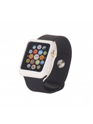 Bumper silicone  blanc pour Apple Watch 38mm