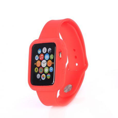 Bracelet bumper silicone rouge pour Apple Watch 38mm