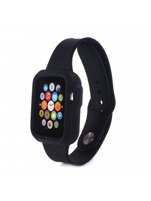 Bracelet bumper silicone noir pour Apple Watch 38mm