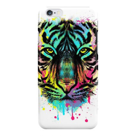coque rigide tigre multicolore pour apple iphone 6 plus