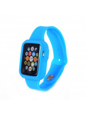 Bracelet bumper silicone bleu pour Apple Watch 42mm