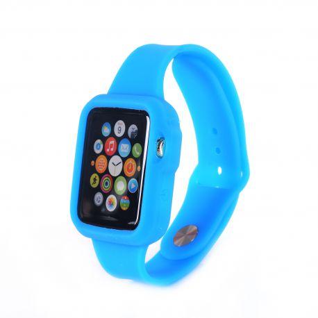 Bracelet bumper silicone bleu pour Apple Watch 42mm