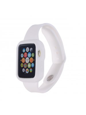 Bracelet bumper silicone blanc pour Apple Watch 42mm