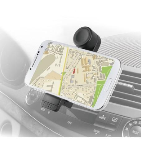 Support universel Muvit noir rotatif grille pour smartphones jusqu'à 6 pouces
