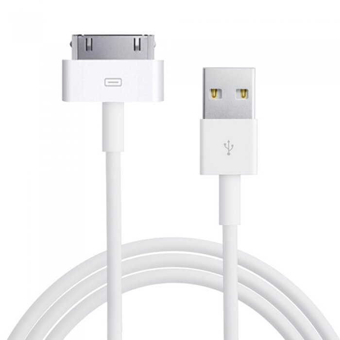 Cable blanc iPhone 3G/3GS et iPhone 4/4S Dock Connector vers USB