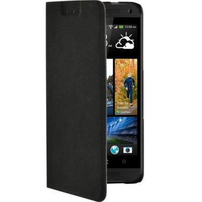 Etui à rabat noir pour HTC One Mini