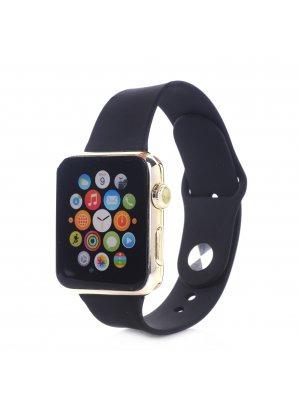 Bracelet silicone noir sans adaptateur pour Apple Watch 38mm