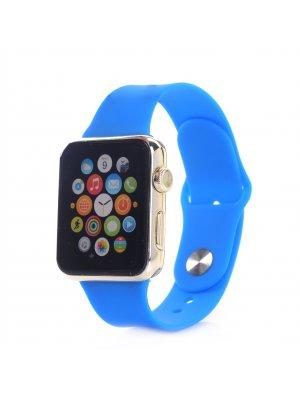 Bracelet silicone bleu sans adaptateur pour Apple Watch 42mm