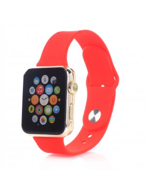 Bracelet silicone rouge sans adaptateur pour Apple Watch 42mm
