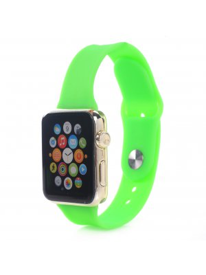 Bracelet silicone vert sans adaptateur pour Apple Watch 42mm