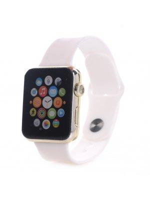 Bracelet silicone blanc sans adaptateur pour Apple Watch 38mm