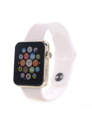 Bracelet silicone blanc sans adaptateur pour Apple Watch 42mm