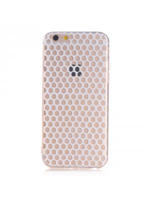 Coque souple transparente ultra slim nid d'abeille blanc pour Apple iPhone 6
