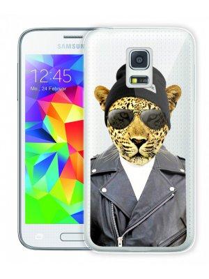 Moxie coque crystale rigide léopard Rock pour Samsung Galaxy S5 mini